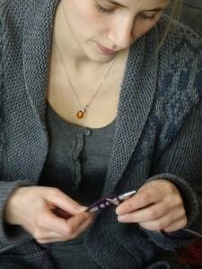 Sophie tricote