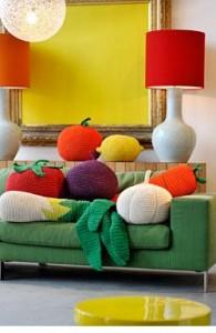 légumes géantes tricotés