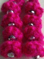 boucles roses fluo