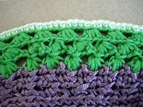 cadre au crochet my laine