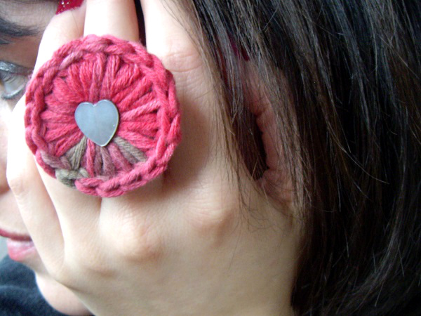 bague crochet my laine