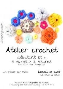 Atelier crochet d'avril