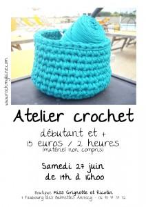Atelier crochet de juin
