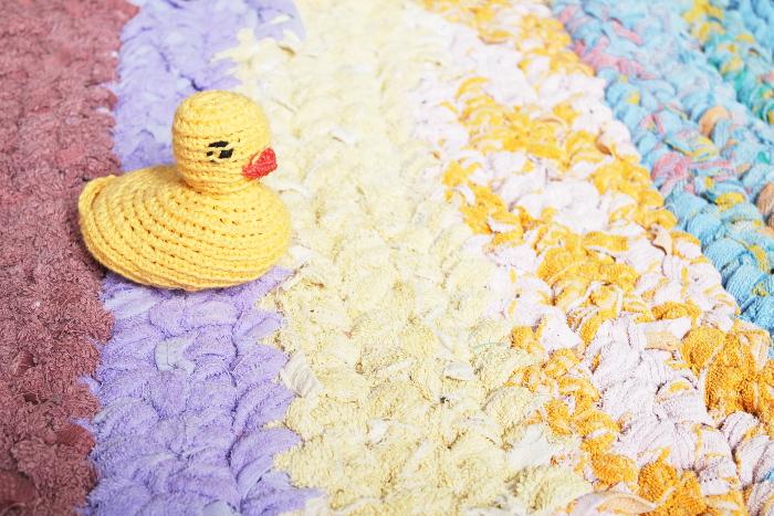 tapis de bain au crochet