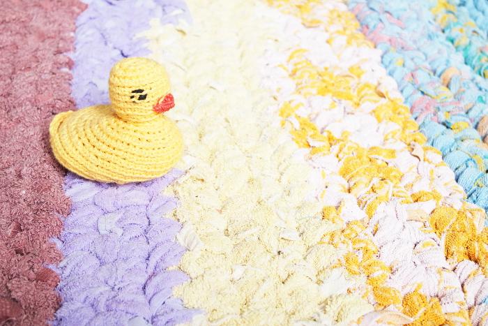tapis crochet douche bain