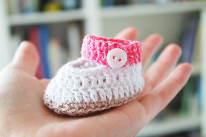 chaussons crochet bébé