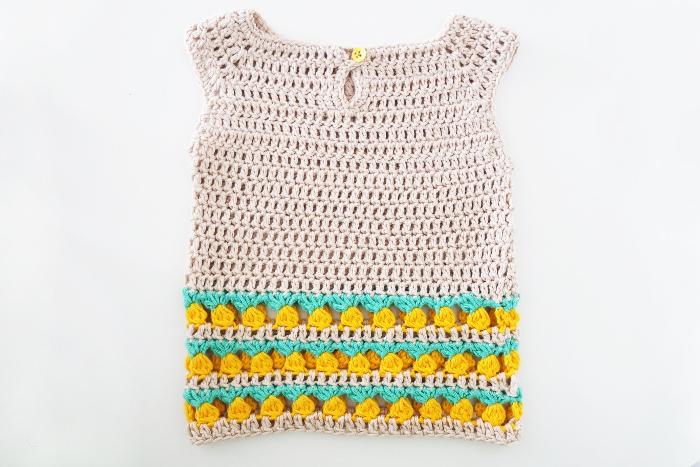 robe bébé crochet ananas