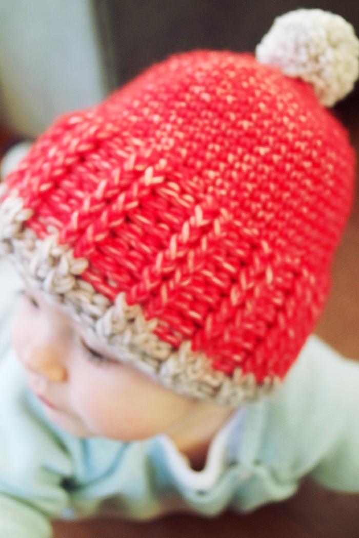 bonnet bébé rouge crochet