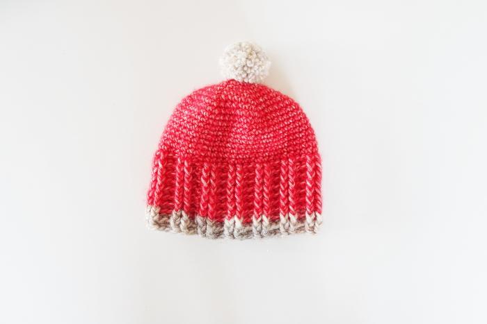 bonnet bébé rouge crochet 036cdb9e9e5