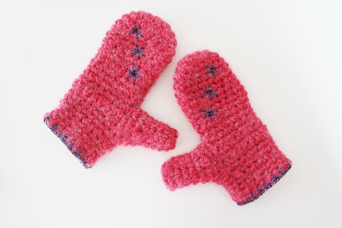 moufles au crochet