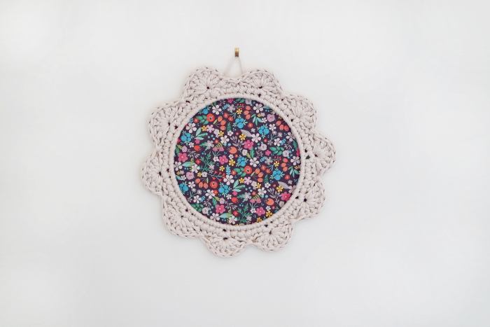 mon cadre fleur au crochet