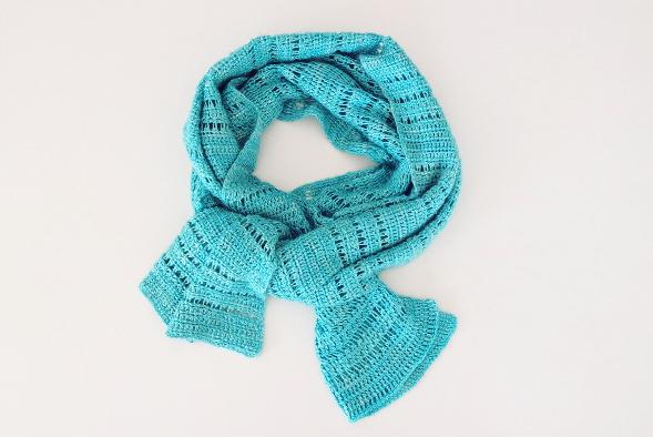 écharpe crochet tunisien