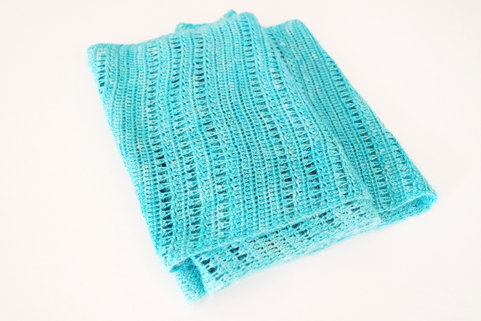 écharpe soie crochet