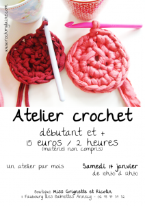 Atelier crochet de janvier